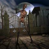 Zombie - Halloween Scene. 3 D Render of an Halloween Scene with Zombie Stock Photography