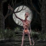 Zombie - Halloween Scene Royalty Free Stock Photos