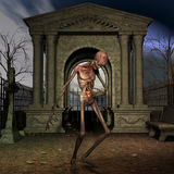 Zombie - Halloween-Szene Lizenzfreies Stockbild
