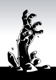 Zombie hand. Vector illustration of zombie hand Stock Photos