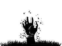 Zombie hand vector illustration