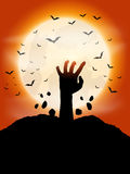 Zombie hand background Royalty Free Stock Images
