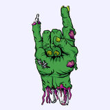 Zombie hand cartoon  Stock Photos