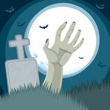 Zombie Hand Cemetery Royalty Free Stock Photography