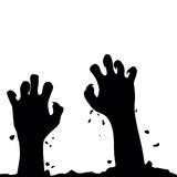 Zombie hand rising out from the ground. Hands on other layer. Ve Royalty Free Stock Images