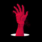Zombie Hand Rising Royalty Free Stock Images