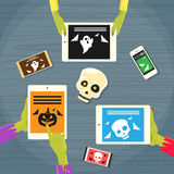 Zombie Hand Tablet Computer Smart Phone Royalty Free Stock Image