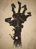 Zombie hand. Vintage halloween icon - zombie hand stock illustration