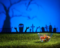 Zombie hands and graveyard Royalty Free Stock Images