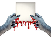 Zombie Hands Sign Stock Images