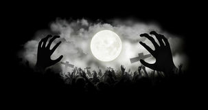 Zombie hands with smoke background Royalty Free Stock Photography