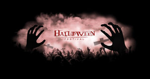 Zombie hands with smoke background Royalty Free Stock Images