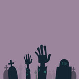 Zombie Hands Sticking Out From Grave Stock Image