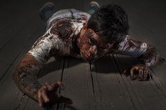 Zombie in the haunted school Royalty Free Stock Photography