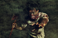 Zombie in the haunted school Stock Images
