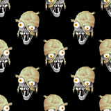 Zombie head on a black background. Royalty Free Stock Image