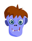 Zombie Head Cartoon Character Royalty Free Stock Images