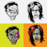 Zombie Head Royalty Free Stock Photos