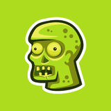 Zombie head in the form of a sticker Royalty Free Stock Photos