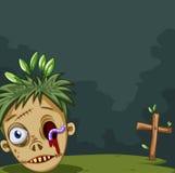 Zombie head on the ground Stock Photo