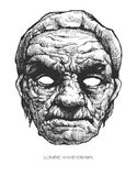 Zombie head, hand drawn,  eps8 Stock Photos