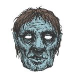 Zombie head, hand drawn,  eps8 Royalty Free Stock Photography