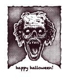 Zombie head, hand drawn, vector eps8 Stock Photo
