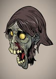 Zombie Head Royalty Free Stock Images