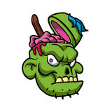 Zombie Head Illustration. Royalty Free Stock Photos