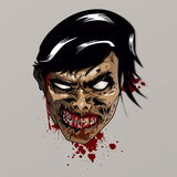 Zombie Head. Illustration of a zombie head, done in great detail. ideal for printing or any usage that requires a superbly detailed image Stock Photography