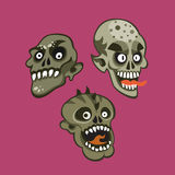 Zombie head set Stock Photography