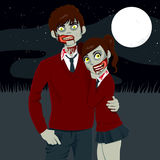 Zombie High School Couple Royalty Free Stock Photo