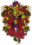 Zombie honor. Vector illustration ideal for printing on apparel clothing vector illustration