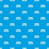 Zombie horror pattern vector seamless blue. Repeat for any use Stock Photography