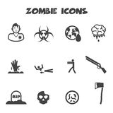 Zombie icons Royalty Free Stock Photo
