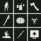 Zombie icons. Set of icons on a theme zombie Royalty Free Stock Photography