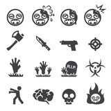 Zombie icons Royalty Free Stock Photos