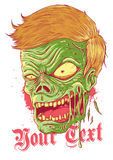 Zombie Illustration. Angry zombie illustration suitable for t-shirt design or hallowen moments Stock Photos