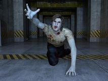 Zombie. Image of a male zombie Stock Image