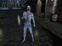 Zombie. Image of a male zombie Stock Photo