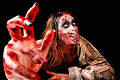 Zombie. Isolated in black background Stock Photos