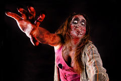 Zombie. Isolated in dark background Stock Photography