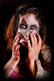 Zombie. Isolated in dark background Stock Images