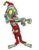 Zombie Jultomte Arkivfoton