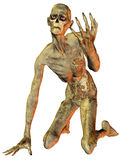 Zombie on the knees. 3D rendering an undead on my knees Royalty Free Stock Photos