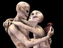 Zombie in Liefde Stock Fotografie