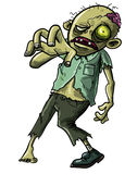 Zombie making a grabbing movement. Cartoon illustration of an undead Zombie or reanimated corpse making a grabbing movement with his hand towards the camera Royalty Free Stock Photography