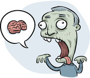 Zombie Man Wanting Brains Royalty Free Stock Photography