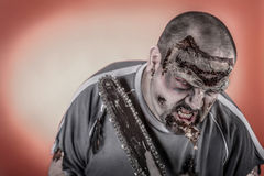 Zombie with mechanical saw Royalty Free Stock Image