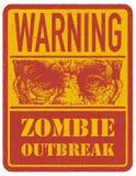 zombie mer mitt portföljtecken undertecknar varning tecknad hand vektor Fotografering för Bildbyråer
